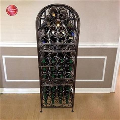 wrought iron wine racks wine enthusiast renaissance wrought iron wine