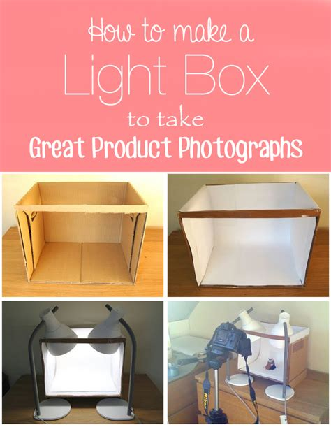 how to make a light box for pictures how to make a light box to take great product photographs