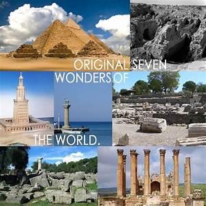 the ORIGINAL seven wonders of the worldPyramids in Egypt