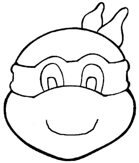 Kleurplaat Turtles Masker by Kleurplaten Turtles Masker