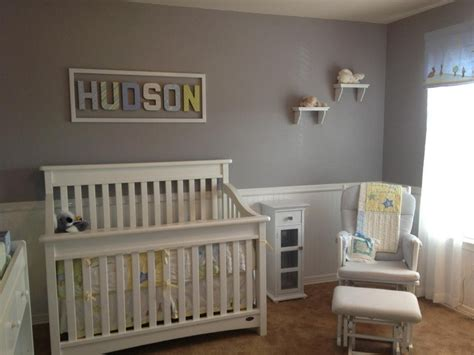 Beadboard Nursery : ) Gray Walls, White Bead Board, Pbk