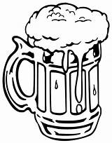 Beer Mug Coloring Pages Bottle Foaming Drawing Drawn Print Tocolor Root Clipart Place Printable Pencil Button Through sketch template