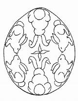 Easter Coloring Egg Eggs Colouring Bunny Printable Printables Decorated Colorful Cut Own sketch template