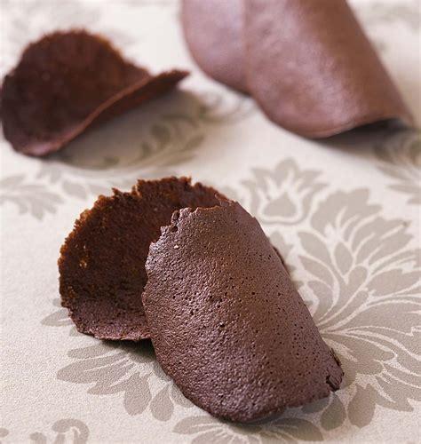 tuiles au chocolat les meilleures recettes de cuisine