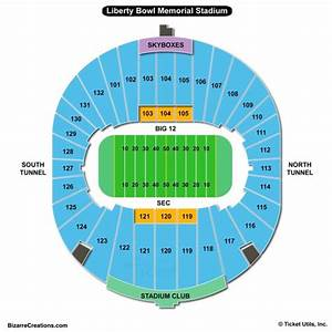 Liberty Bowl Memorial Stadium Seating Chart Seating