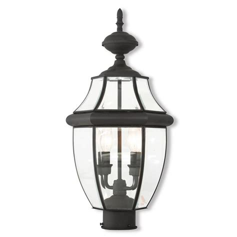 newport coastal dunbar outdoor black post light 7982 21b