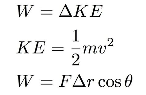 Being connected to motion, it always has a velocity component in its formula. The Formula For Work: Physics Equation With Examples | Science Trends