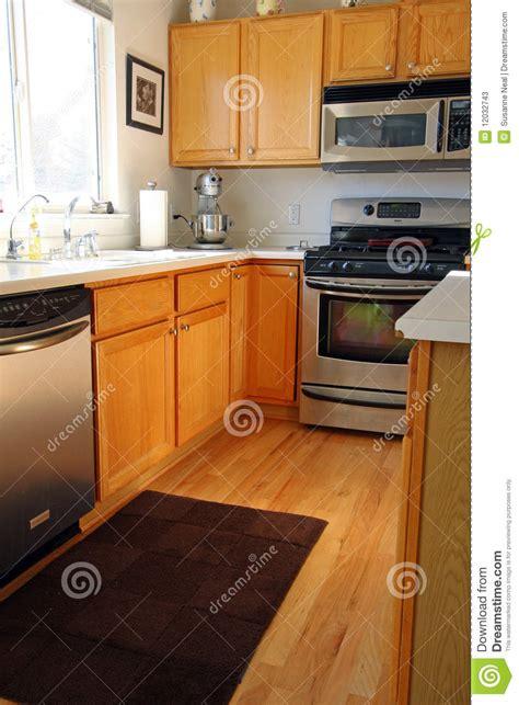 modern kitchen with oak cabinets modern kitchen cabinets in oak stock image image 12032743 9245