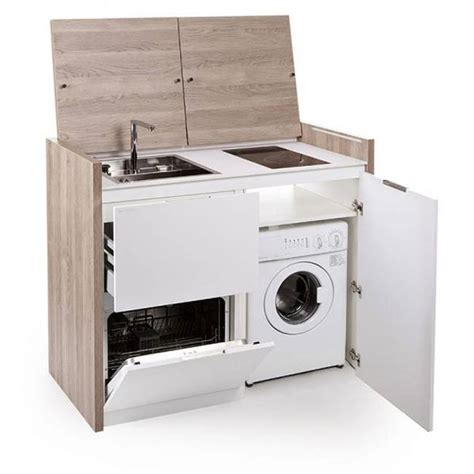all in one kitchen sink and stove compact all in one kitchen unit hides stove fridge and