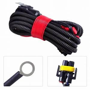 Dwcx New Black H11 Female Adapter Wiring Harness Sockets