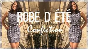 diy couture realiser une robe d39ete cecile youtube With robe cintrée sous poitrine