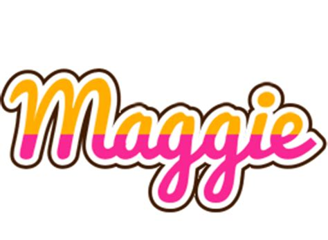 maggie logo  logo generator smoothie summer birthday kiddo colors style