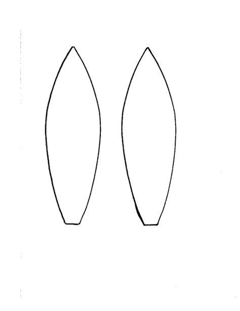Template For Ears by Bunny Ear Headband Template Free