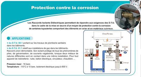 norme gaz cuisine raccord dielectrique a joint isolant 3 pieces droit