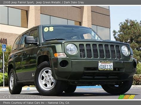 dark green jeep patriot jeep green metallic 2008 jeep patriot sport dark slate