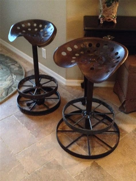 vintage counter stools counter stools from tractor seats and wagon wheel 3181