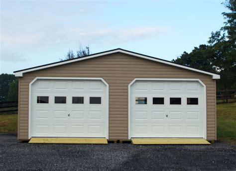 prefab 2 car garage 24x30 modular 2 car garage wide garage byler barns