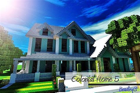 colonial home  minecraft map