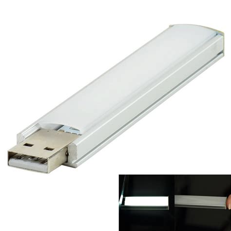 1 5w 8 led white usb light bar l w touch switch
