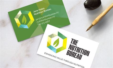 'nutrition Bureau' Business Card Design [christchurch Business Cards Online Officeworks Add Card Outlook 2010 Psd Layout Holding Word Format Wordpress Theme Free Paper Amazon How To Create On 2013
