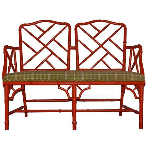 Orange Settee by Ficks Reed Settee In Orange Ficks Reed Furniture
