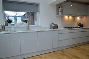 Dove, Grey, Gloss, Kitchen, With, White, Starlight, Quartz, -, Modern, -, Kitchen, -, Other