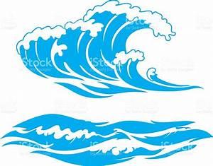 Blue Wave Surf stock vector art 506551048 | iStock