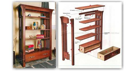 Arts And Crafts Bookcase Plans - arts and crafts bookcase plans woodarchivist