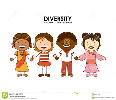 diversity of races stock vector illustration of illustration 43442505