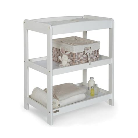 shelves changing table mamas and papas aruba infants changing table with shelves rubber wood white ebay