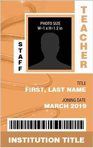 Teacher Schedule Template Teacher Photo Id Badge Templates For Ms Word Word