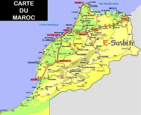 Carte Du Maroc Avec Les Principales Villes by Maroc En Voyage Arts Et Voyages
