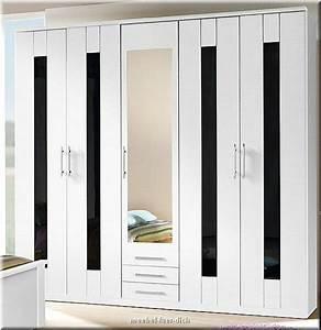 Schrank Vorhang Statt Tür : komplettes schlafzimmer dublin hochglanz weiss schwarz ebay ~ Eleganceandgraceweddings.com Haus und Dekorationen