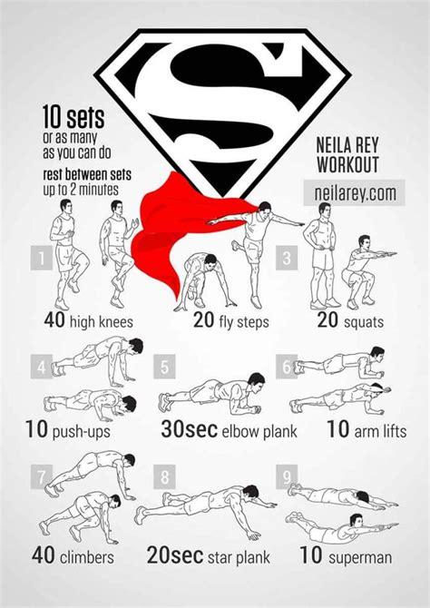 Superman Bodyweight Workout Pop Workouts