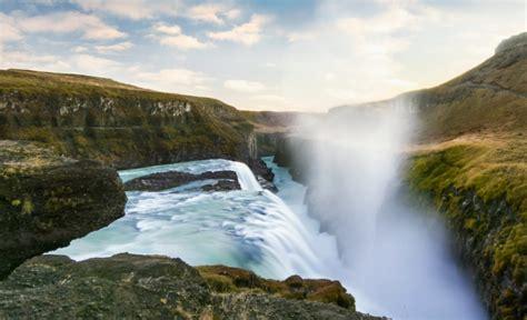 Gullfoss Waterfall Backgrounds by Gullfoss Waterfall Iceland Jigsaw Puzzle In Waterfalls