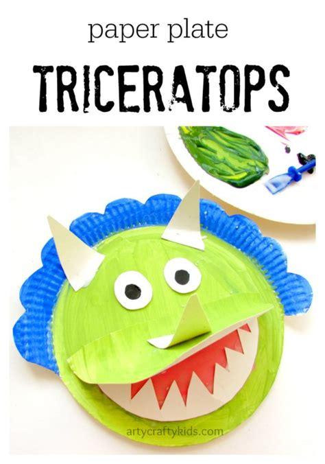 paper plate triceratops 607 | paper plate triceratops pin1 717x1024