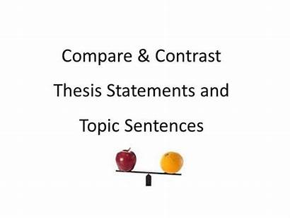 Examples Contrast Compare Sentence Essay Topic Thesis