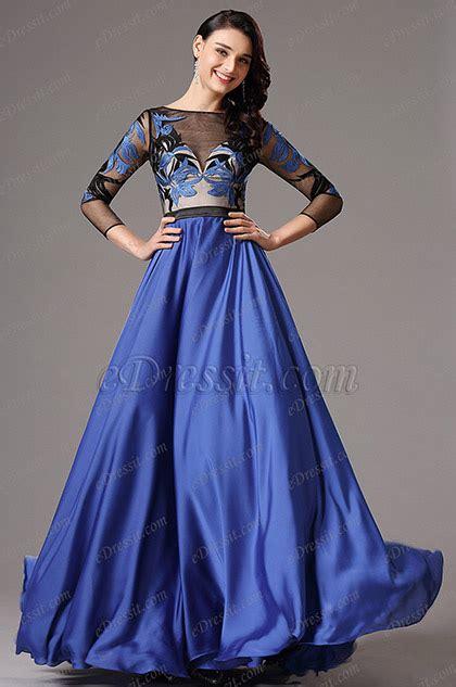 Outfit vestido azul rey largo u2013 Vestidos de moda de esta temporada