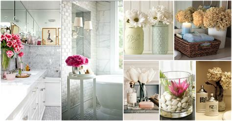 bathroom decorating accessories and ideas relaxing flowers bathroom decor ideas that will refresh