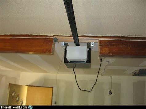 low ceiling garage door opener low headroom doityourself community forums 9067