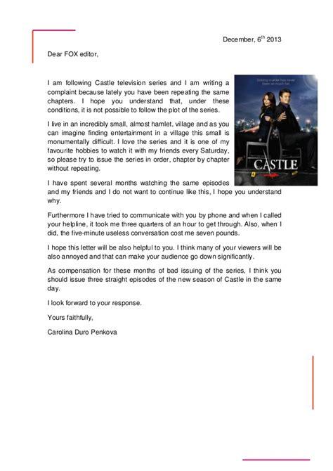 strong letter  complaint   write  complaint