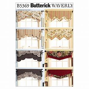 Butterick fast easy reversible valances pattern b5369 for Simple curtain patterns