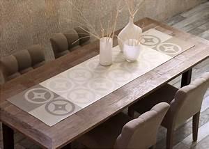Chemin De Table Moderne : le jacquard fran ais chemin de table art de la table ~ Teatrodelosmanantiales.com Idées de Décoration