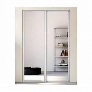 Porte Coulissante Miroir Sur Mesure : kazed 2 portes influence miroir achat en ligne ~ Premium-room.com Idées de Décoration