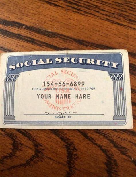 ssn editable social security card social security card