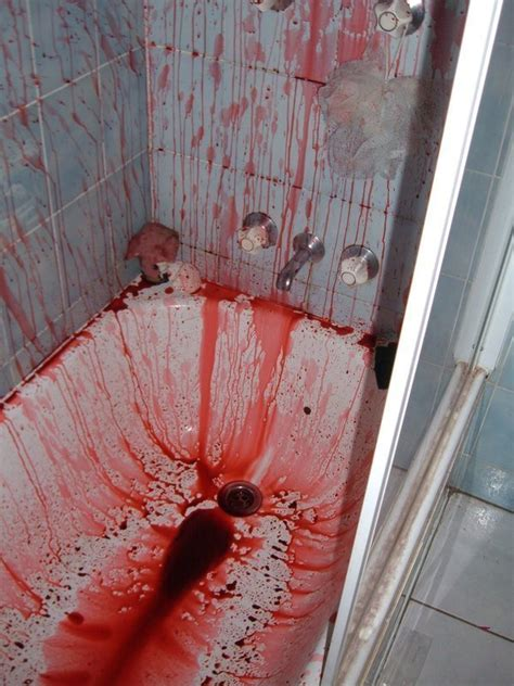 fake blood own death shower making friends scare ways boredbug bath bathroom kill hair