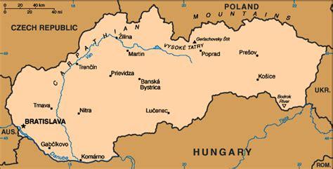 Harta Slovacia