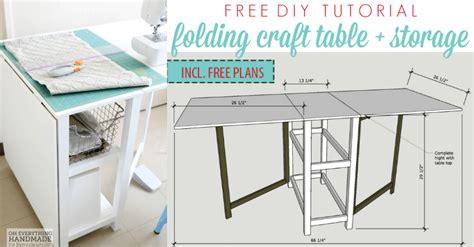 remodelaholic diy folding craft table  foldable desk