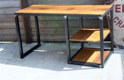 bureau metal et bois bureau metal bois bureau moderne pas cher lepolyglotte