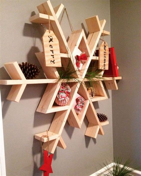 let it snow my diy wooden snowflake shelf hometalk